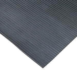 """Rubber-Cal """"Ramp Cleat"""" Non-Slip Outdoor Rubber Mats - 1/8"""" Thick x 3ft x 1ft Floor Mat"""