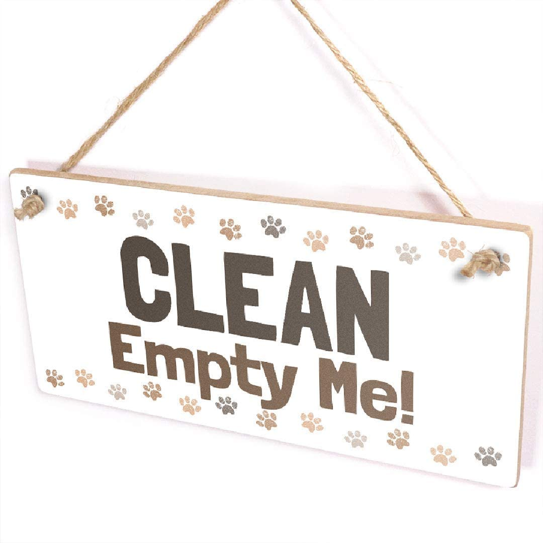 """Clean Empty Me! / Dirty Fill Me Up! - Helpful Dishwasher Emptying Reminder Handmade Wooden Sign/Plaque Wooden Hanging Wooden Hanging Sign 5"""" X 10"""""""