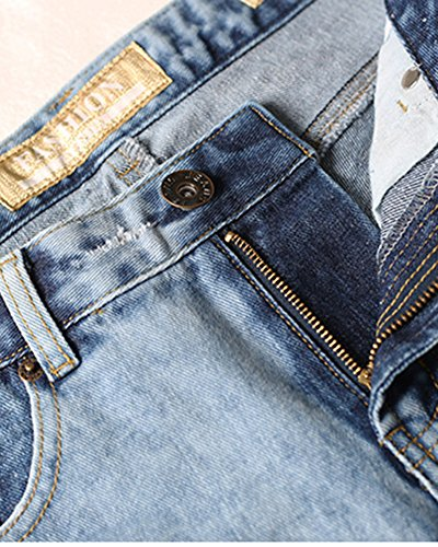 Fiore Pantaloni Blu Sciolto Donna Denim Casual Lunghezza Jeans 1A4qwA