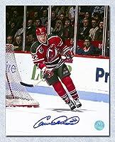 Claude Lemieux New Jersey Devils Autographed Retro Jersey Action 8x10 Photo - Autographed Hockey Photos