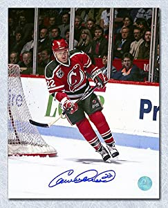 Claude Lemieux New Jersey Devils Autographed Retro Jersey Action 8x10 Photo - Autographed Hockey Photos