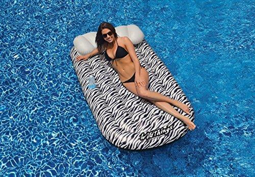 ¡no ser extrañado! 72 Water Sports Wild Things Zebra Print Print Print Inflatable Swimming Pool Lounger Raft by Swim Central  precio mas barato