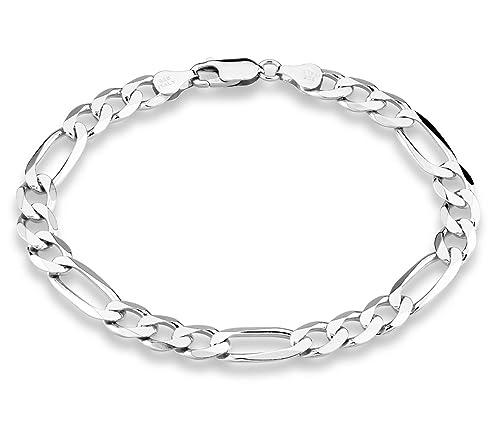 Amazon Com Miabella 925 Sterling Silver Italian 7mm Solid Diamond