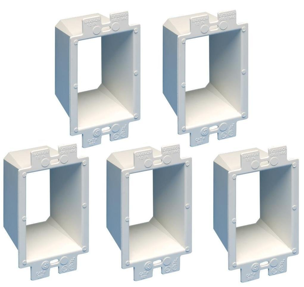 Arlington Be1 5 Electrical Outlet Box Extender 1 Gang White Switch And In The Same Pack