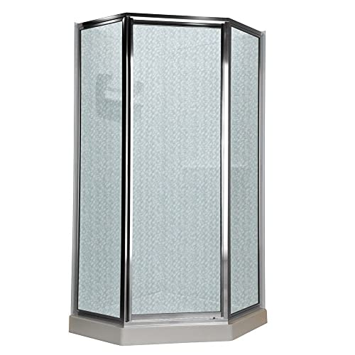 American Standard AMOPQF2436 Neo Angle Tall Framed Hammered Glass Shower Door, 68 1 2-Inch
