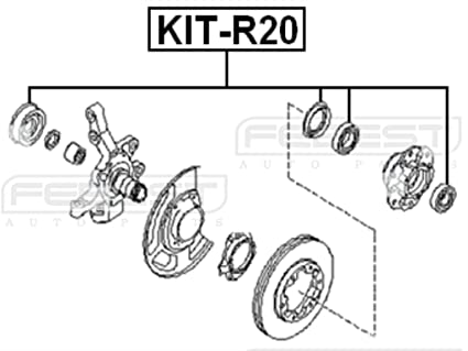Amazon Com Febest Kit R20 Front Axle Shaft Roller Bearing Kit