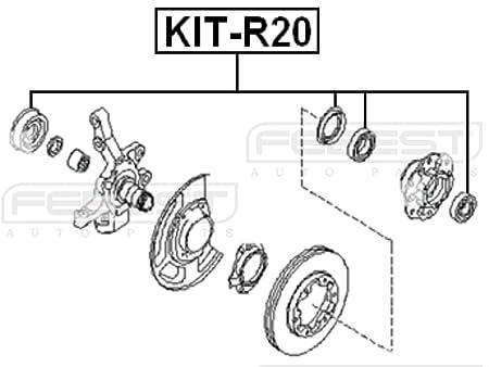 Amazon Com Febest Kit R20 Front Axle Shaft Roller Bearing Kit