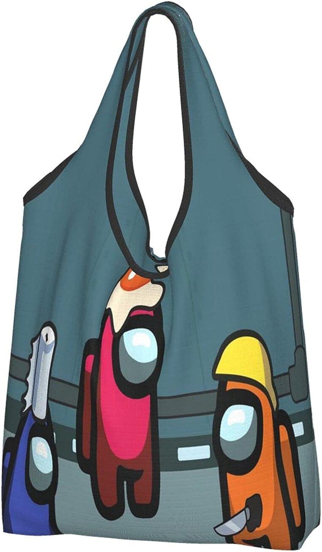 Bolsa de compras de una sola pieza plegable respetuoso del medio ambiente Bolsas de compras lavables Bolsas lindas bolsa grande reforzada resistente