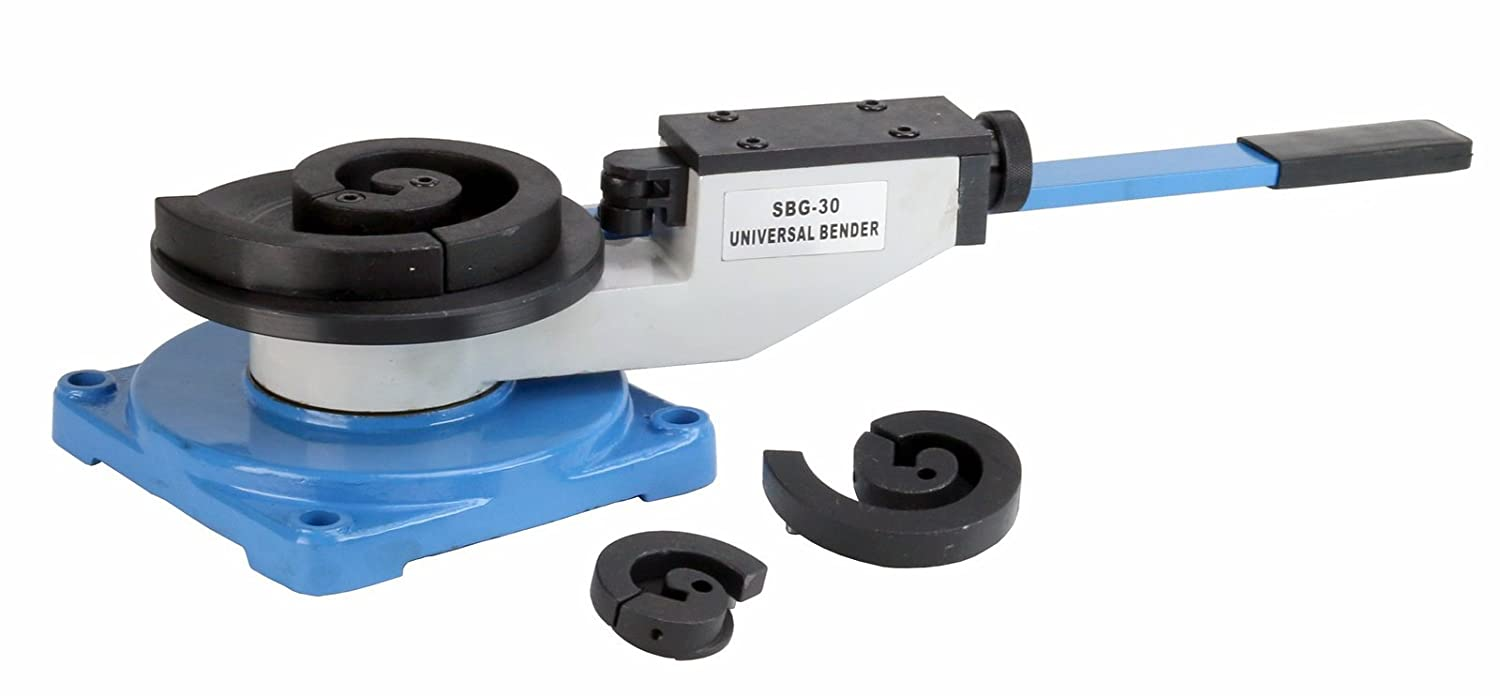 Erie Tools Portable Universal Scroll Bar Bender Ornamental for Angular, Roll, Hoop & Coil Bending Bench Top Mount