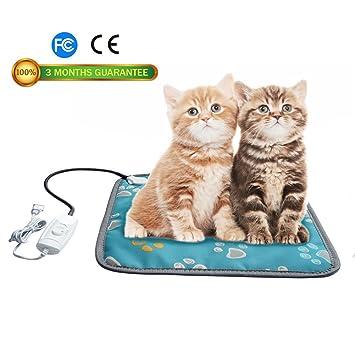 Calefacción Pad, de mascota Perro Gato Calefacción eléctrica almohadilla impermeable ajustable calentamiento alfombrilla con Chew resistente cable de acero: ...