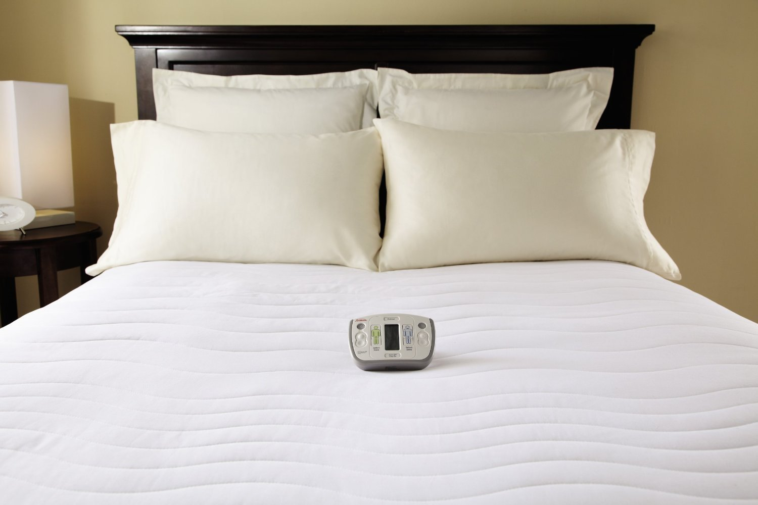Sunbeam Heated Mattress Pad | Therapeutic with Zoned Heat, 10 Heat Settings, Queen (Renewed)
