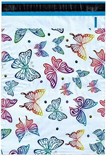 Designer Poly Mailers 10x13 Butterfly
