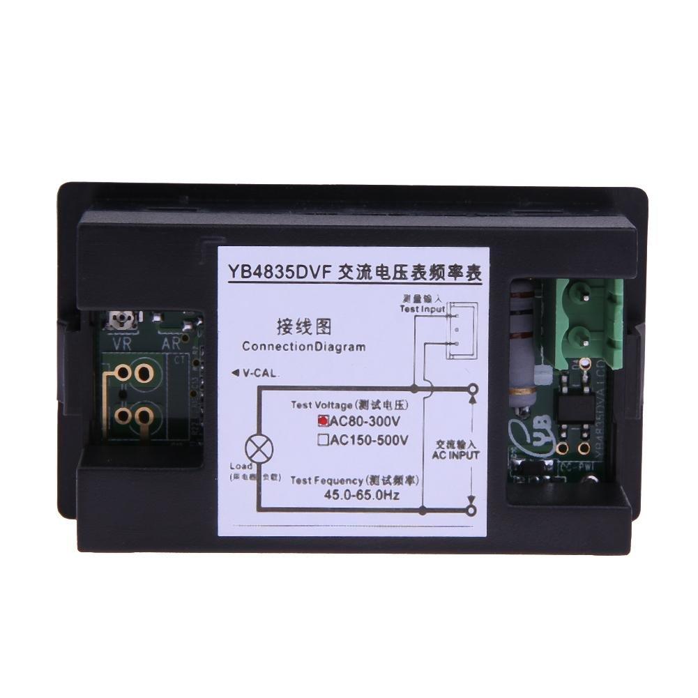500/V Voltm/ètre 45 Hillrong Affichage double /écran LCD Digital AC 150 1 65/HZ fr/équence M/ètre