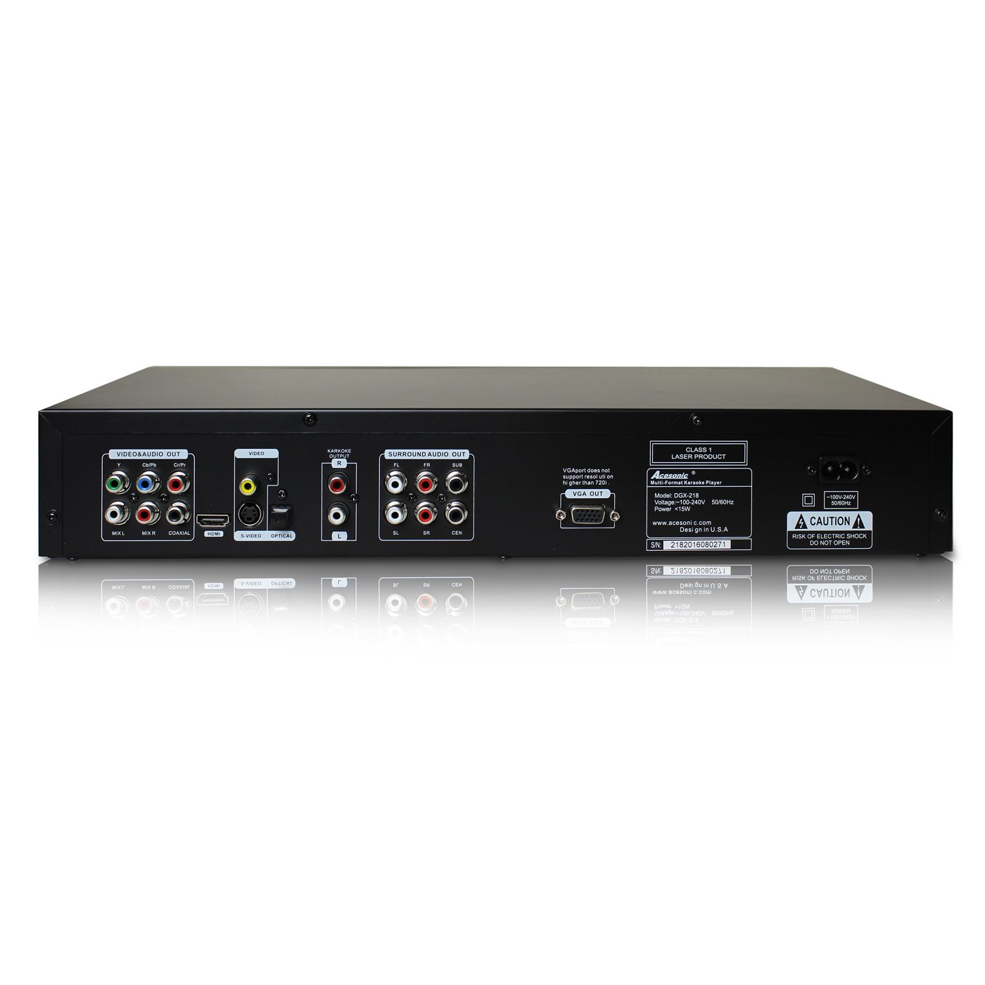 Amazon.com: Acesonic DGX-218 DVD CDG Multi-Format Karaoke Player with 4X CD+G to MP3G Converter: Electronics