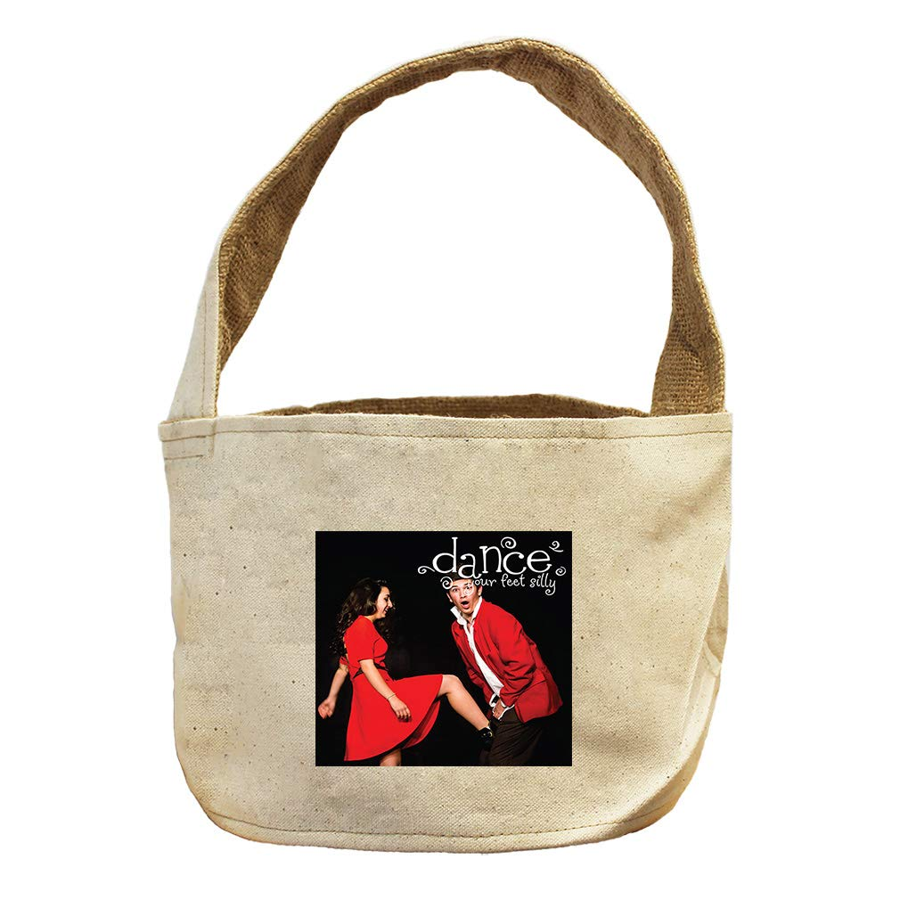Style in Print Dance Your Feet Silly with Red Dress Canvas and Burlap Storage Basket