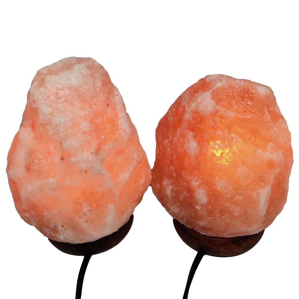2x Himalaya Natural Handcraft Rough Raw Crystal Salt Lamp 6.75''-7.25''Tall, X081, Exact Item will be Delivered