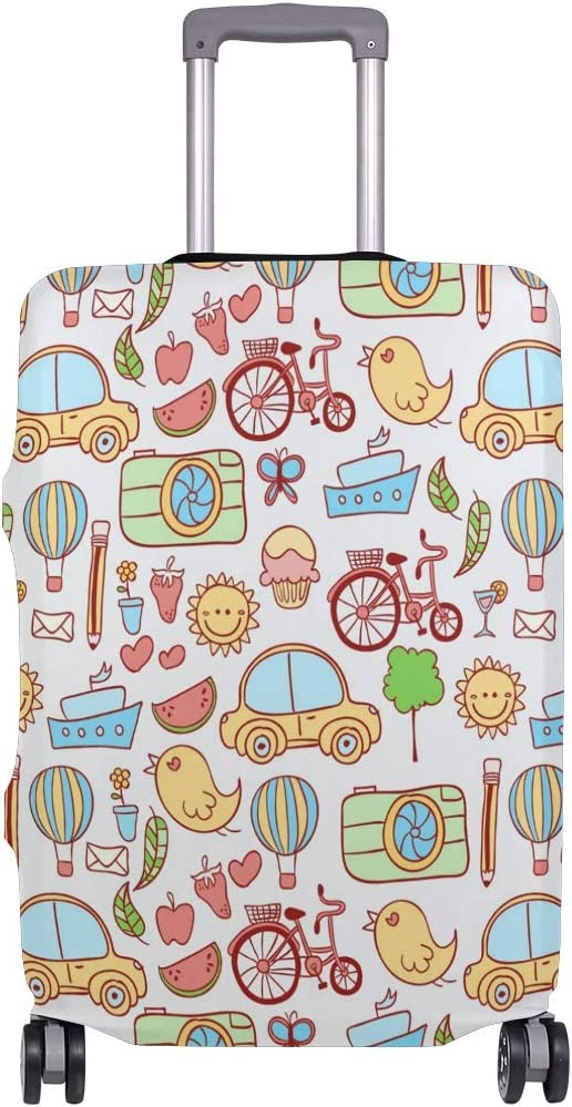 3D Cartoon Animal City Print Luggage Protector Travel Luggage Cover Trolley Case Protective Cover Fits 18-32 Inch