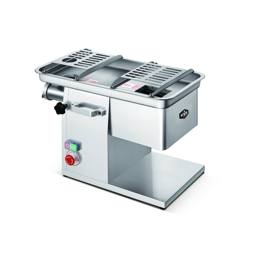 KWS JQ-58 Duo Function Commercial 1950W 2.6HP Electric Fresh Meat Cutter + Stainless Steel Meat Grinder All in One Grinding and Slicing Machine for Restaurant/Deli/ Butcher Shop