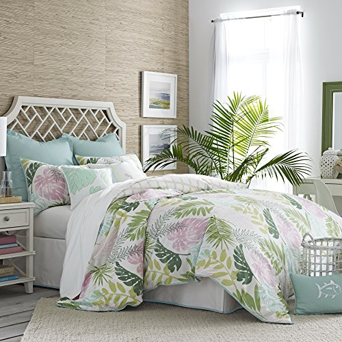 Southern Tide Home Tropical Retreat Comforter Set, Full/Queen, Multicolor (Retreat Tropical)