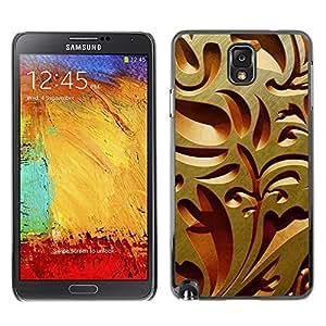 TECHCASE**Cubierta de la caja de protección la piel dura para el ** Samsung Galaxy Note 3 N9000 N9002 N9005 ** Interior Design Wood Carving Art Architecture