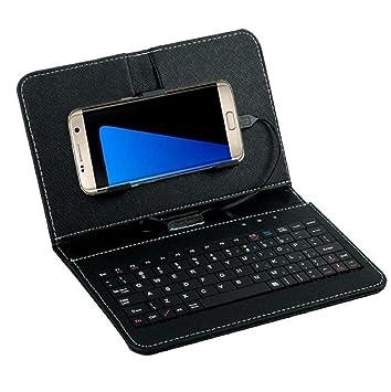 Sannysis Teclado con cable Caso para Teléfono móvil Android 4.2-6.8 pulgadas (Negro): Amazon.es: Electrónica