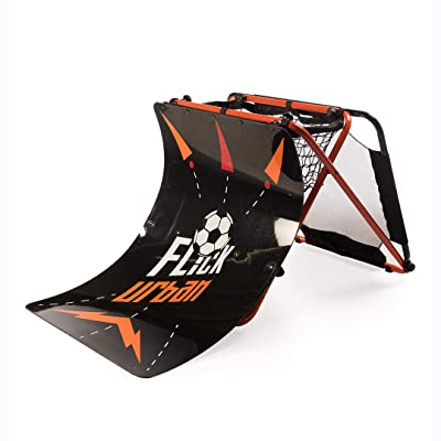Football Flick Urban Skills Training Rebounder and Net: Sports & Outdoors