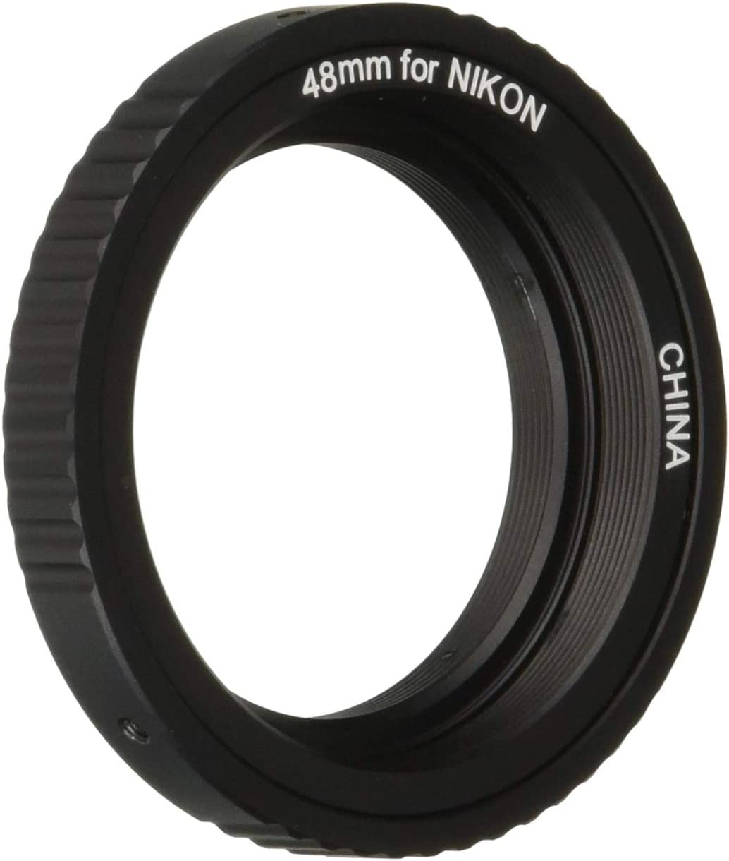 for Canon M48-EOS Lens Adapter Ring to Telescope Eyepiece for Nikon AI for Canon EOS Camera M480.75 Lens Mount Adapter Ring