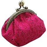 OverDose 4.7 Inch Retro Vintage Lace Small Wallet Hasp Purse Clutch Bag