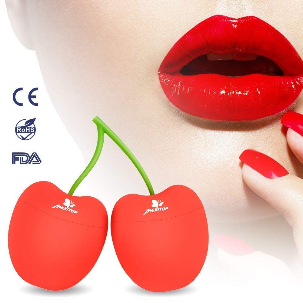 Lip Plumper Enhancer, BESTHINKY Portable Lip Pumping Device Natural Fuller Thicker and Sexy Lip Enhancement Enlarger Tool, Amazing Effect Using with Lip Gloss (Cherry Shape)