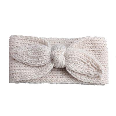 Kid Girls Hairband Wool Rabbit Bow Ear Baby Knit Headband Head Wraps Headwear (H)