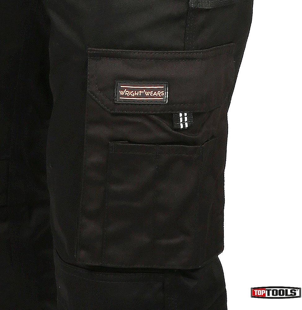 Los hombres trabajan de Carga Plancha Negro Pro-11 bolsillos de Altas Prestaciones Multi