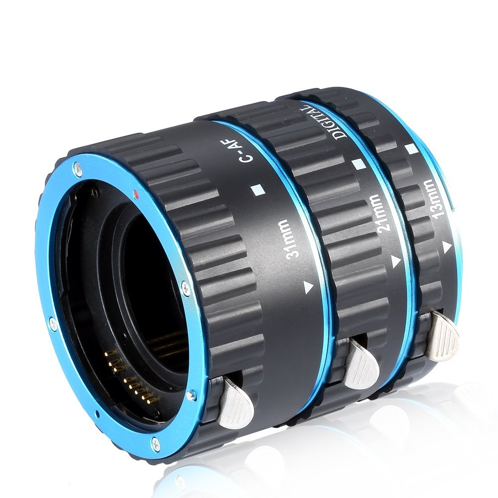Neewer Auto Focus Macro Extension Tube Set (Blue) by Neewer