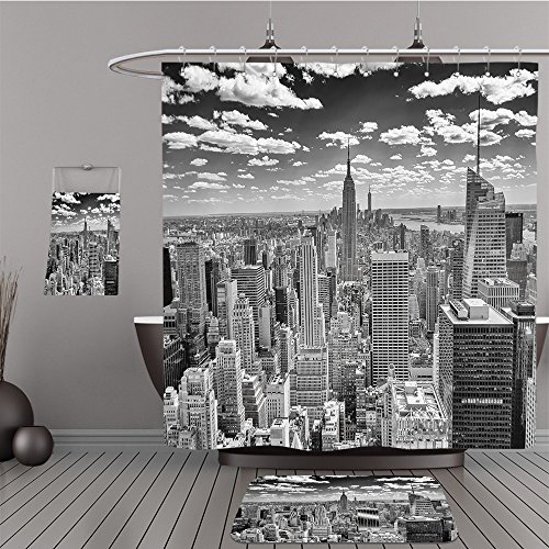 Uhoo Bathroom Suits & Shower Curtains Floor Mats And Bath Towels 148226753 NEW YORK CIRCA MAY 2013 The New York Skyline dominated by the Empire State Building, circa May 2013. The Empire S.B. is (Circa Vintage Suit)