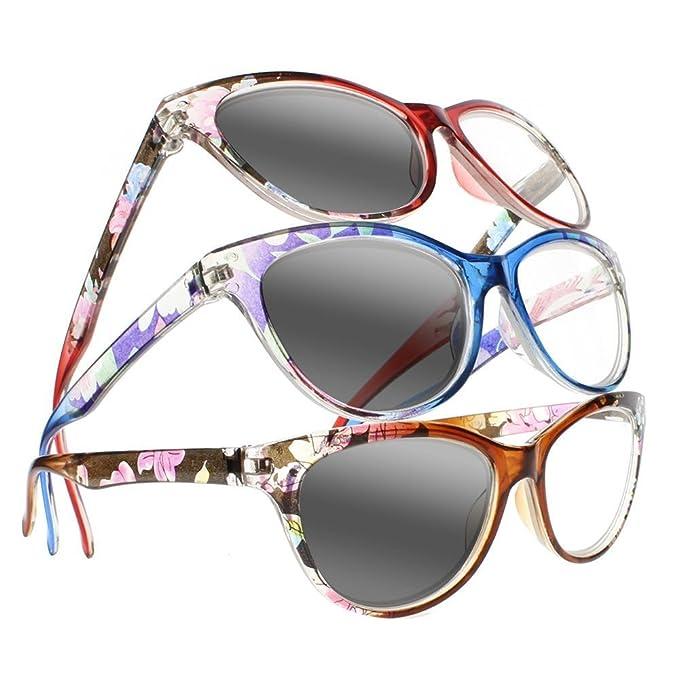 Amazon.com: Gafas de lectura fotocromáticas de transición ...
