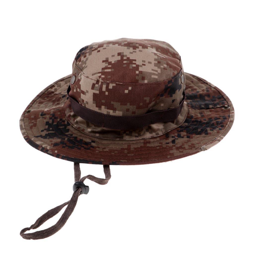 MagiDeal Cappello da Pesca A Tesa Larga Cappello Bonnie Safari Cappuccio per Outdoor Campeggio - #1, Taglia Unica