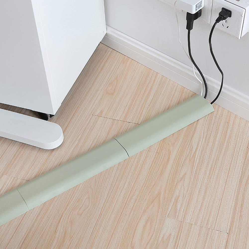 RENNICOCO Abrazadera de Cable de Piso Organizador de Cable de Cable Abrazadera de fijaci/ón de Alambre de Pared para aceras en el hogar u Oficina