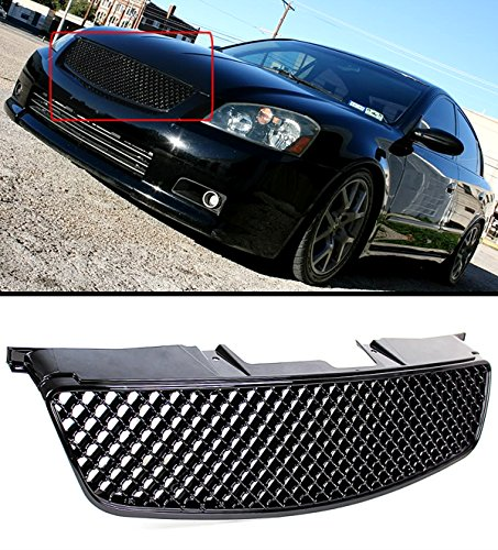 GLOSSY BLACK JDM 3D DIAMOND FRONT HOOD MESH GRILL GRILLE FOR 2005-2006 NISSAN (Nissan Altima Bumper Grille)