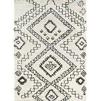 Momeni Rugs MAYA0MAY-5IVY2030 Maya Collection, Ultra Thick Pile Shag Area Rug, 2 x 3, Ivory