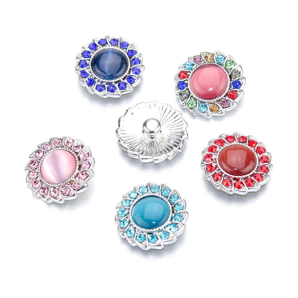 110a011a7885 Soleebee Correa Para el Cuello con Colgante TRUST LOVE de Botón a Presión  Para Tarjeta de identificación Incluida 6 Piezas Botón (Colorido Opal)   Amazon.es  ...