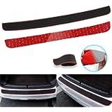 RUICA Rear Bumper Protector Guard Trunk Rubber Protection Strip Rubber Scratch-Resistant Trunk Door Entry Guards Car…