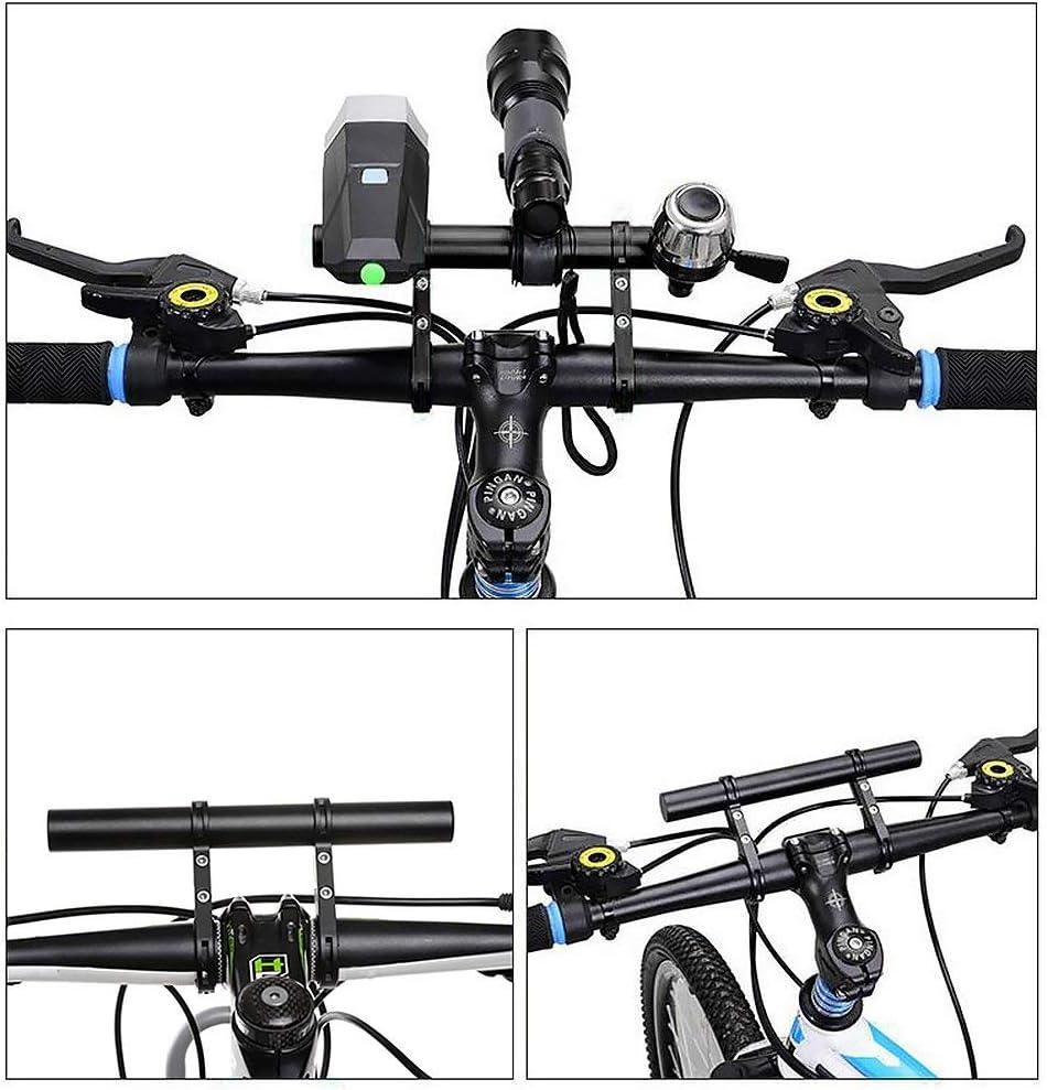 Yizhet Bike Handlebar Extender Lightweight Durable Aluminum Alloy Double Bicycle Handlebar Extension Bracket for Holding Motorcycle E-Bike Lamp Speedometer GPS Phone Mount Holder