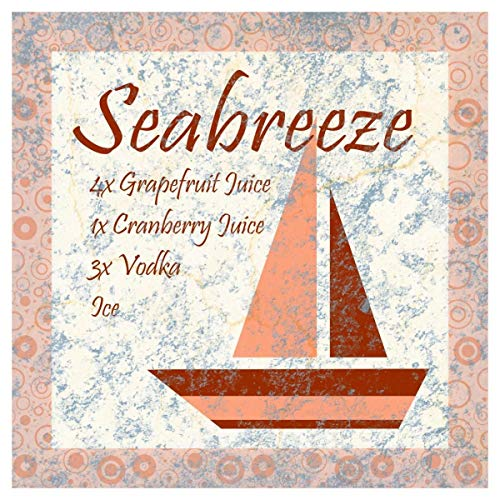 Global Gallery Cocktail Recipes - Sea Breeze -PaperArt-42 x42 (Best Sea Breeze Cocktail Recipe)