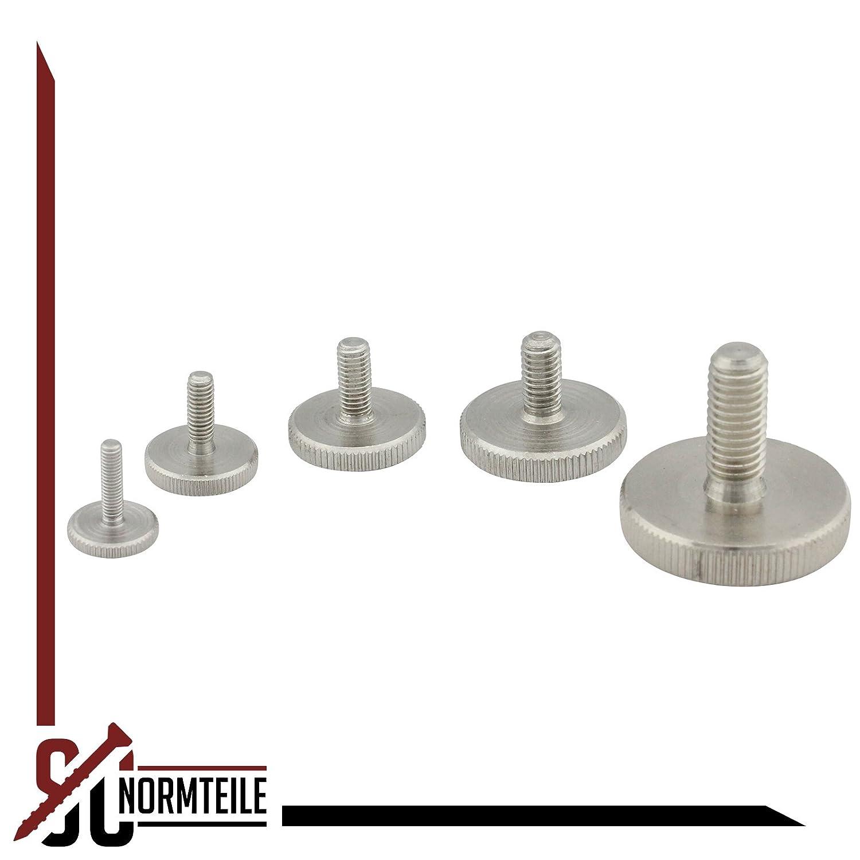 - DIN 653 1 St/ück niedrige Form R/ändelschraube SC-Normteile/® SC653 - M5x12 - aus rostfreiem Edelstahl A1 VA -Niro
