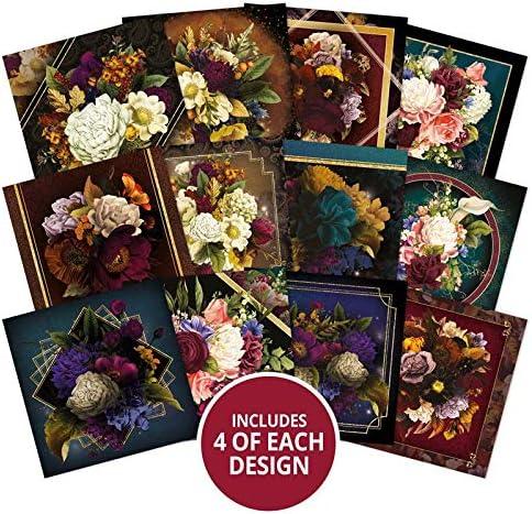 Hunkydory Midnight Botanica 4 x 4 Mirri Magic Pad