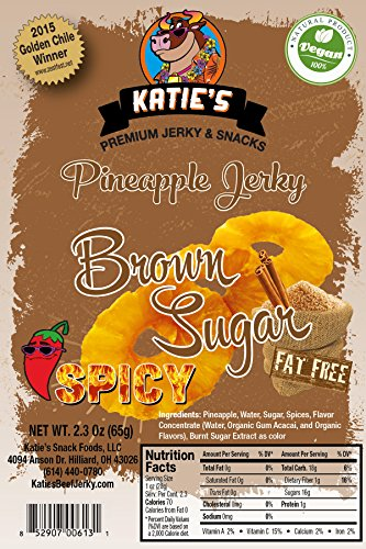 Spicy Brown Sugar Pineapple Vegan Jerky (Dried Fruit) All Natural NO Sulfur Dioxide!