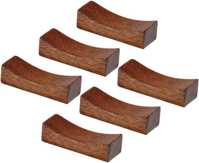 Cintura Delgada UPKOCH 4 Piezas de Palillos de Madera de Descanso Tipo Almohada Tenedores Tenedores Soporte Soporte de Mesa de Cena de Estilo Japon/és Chino para Restaurante en Casa