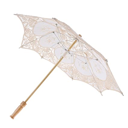 Sharplace Parasol de Flor Lazo para Nupica Sombrilla para Novia Paraguas Bailando Artesanía Utillaje de Foto
