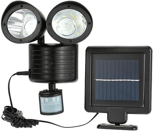 Lámparas Solares,STRIR 22 LED Luz Solar con Sensor de Movimiento Focos Impermeable Luz Solar Exterior para Jardín, Terraza, Garaje, Camino de Entrada Iluminacion Exteriores: Amazon.es: Iluminación