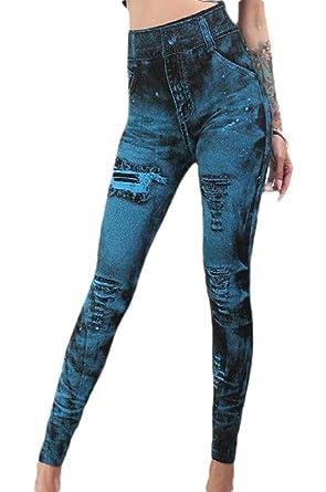 BingSai - Pantalones de chándal Ajustados para Mujer Azul Azul ...