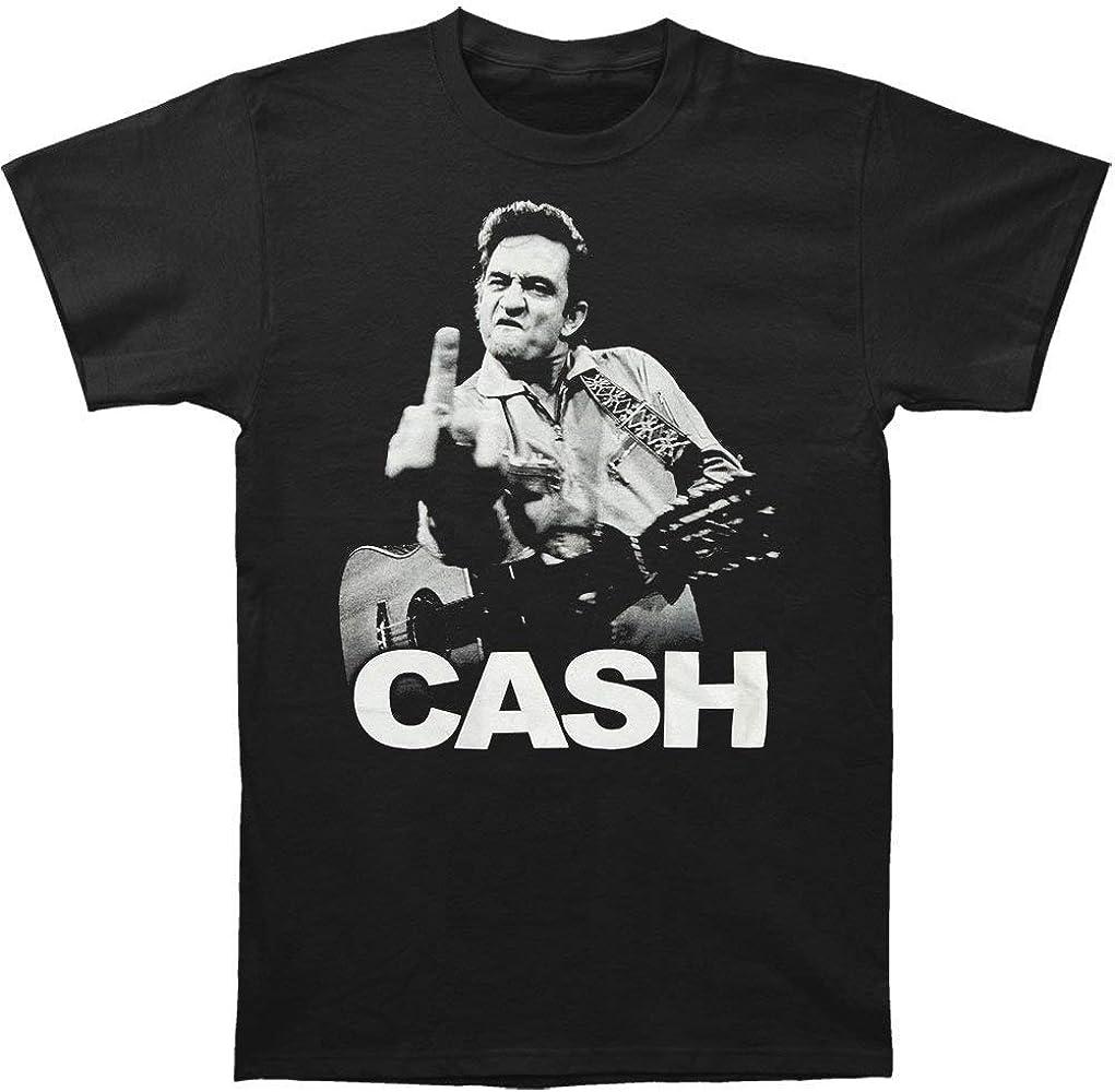 Camiseta Graciosa de Johnny Cash para Hombre The Bird Slim Fit Camiseta Negra: Amazon.es: Ropa y accesorios